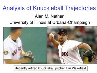 Analysis of Knuckleball Trajectories