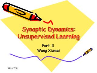 Synaptic Dynamics: Unsupervised Learning