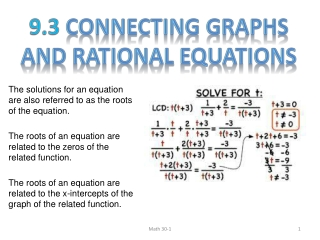 Solving Equations w