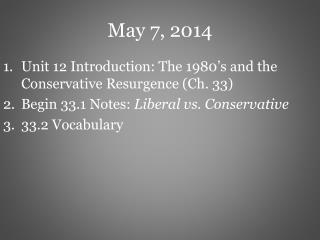 May 7, 2014