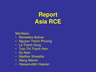 Report Asia RCE