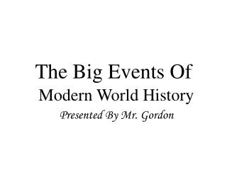 The Big Events Of