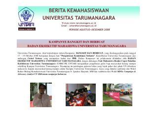 KAMPANYE BANGKIT DAN BERBUAT BADAN EKSEKUTIF MAHASISWA UNIVERSITAS TARUMANAGARA