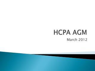 HCPA AGM
