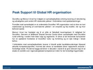 Peak  Support til Global HR organisation