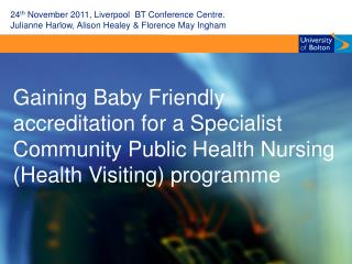 24 th  November 2011, Liverpool  BT Conference Centre.