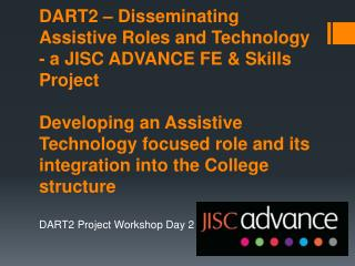 DART2 Project Workshop Day 2
