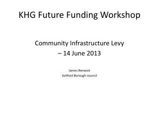 KHG Future Funding Workshop