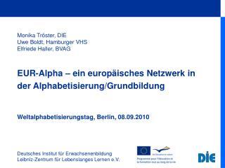 Deutsches Institut für Erwachsenenbildung Leibniz-Zentrum für Lebenslanges Lernen e.V.