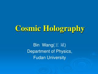 Cosmic Holography