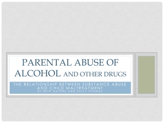 Social Problems: Drug and Alcohol Use and Abuse