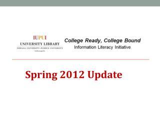 Spring 2012  Update