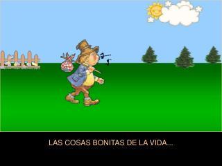 LAS COSAS BONITAS DE LA VIDA...