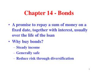 Chapter 14 - Bonds