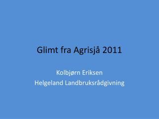 Glimt fra  Agrisjå  2011