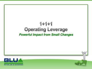 1+1+1 Operating  Leverage
