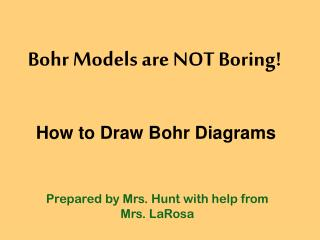 Bohr Models are NOT Boring!