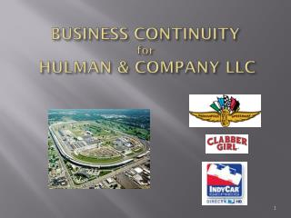 BUSINESS  CONTINUITY for HULMAN &  COMPANY  LLC