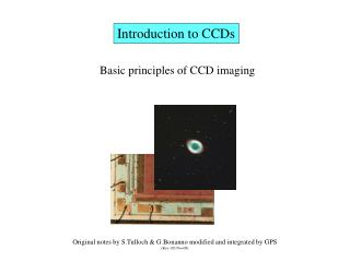 Introduction to CCDs