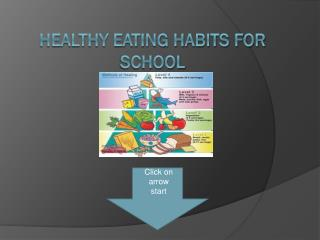 Healthy eating habits For School