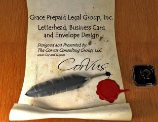 Grace Prepaid Legal Group, Inc. Letterhead, Business Card and Envelope Design