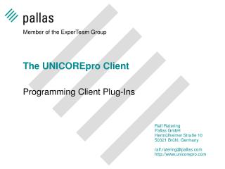 The UNICOREpro Client