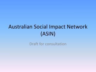 Australian Social Impact Network (ASIN)