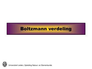Boltzmann verdeling