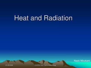 Heat and Radiation