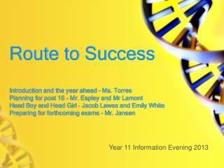 Year 11 Information Evening 2013
