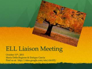 ELL Liaison Meeting