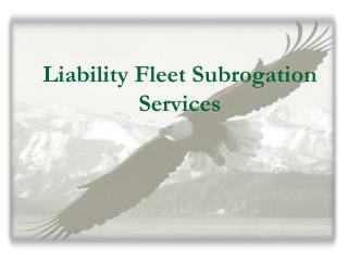 Liability Fleet Subrogation Services