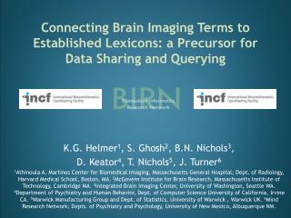 Connecting Brain Imaging Terms to Established Lexicons: a Precursor for Data Sharing and Querying