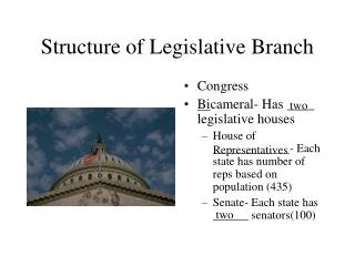 Structure of Legislative Branch