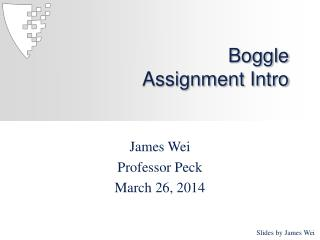 Boggle Assignment Intro
