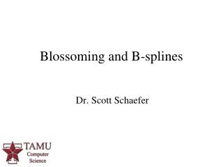 Blossoming and B-splines