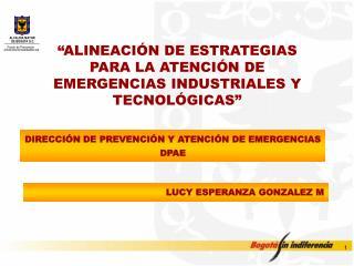 """""""ALINEACIÓN DE ESTRATEGIAS PARA LA ATENCIÓN DE EMERGENCIAS INDUSTRIALES Y TECNOLÓGICAS"""""""