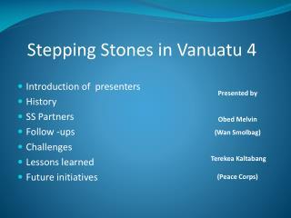 Stepping Stones in Vanuatu 4