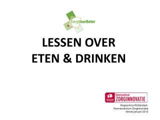 LESSEN OVER ETEN & DRINKEN