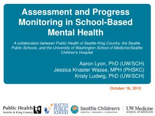 Assessment and Progress Monitoring in School-Based Mental Health