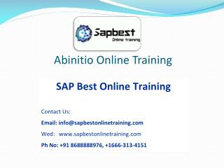 Abinitio online training | Abinitio online classes | Abiniti