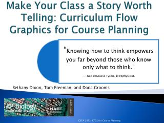 Make Your Class a Story Worth Telling: Curriculum Flow Graphics for Course Planning