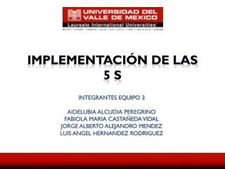 IMPLEMENTACIÓN DE LAS   5 S