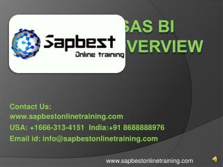 SAS BI online training | SAS BI Training in Hyderabad India