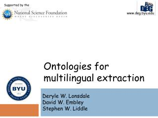 Ontologies  for multilingual extraction
