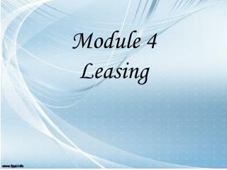 Module 4 Leasing