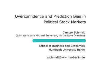 Overconfidence and Prediction Bias in Political Stock Markets