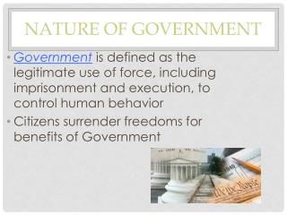 Nature of Government