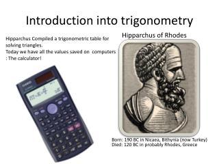 Introduction into trigonometry