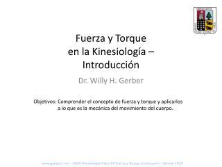 Fuerza y Torque en la Kinesiología – Introducción